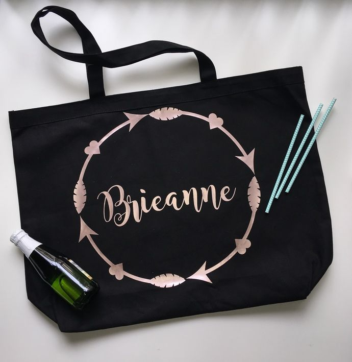 Custom tote bags, monograms, personalized tote bags, cotton book bag by Pretty Party Favors, $6.65 USD