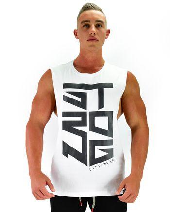 Miami Sleeveless - Strong - White Large