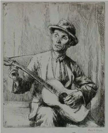Man Playing Guitar, 1923.