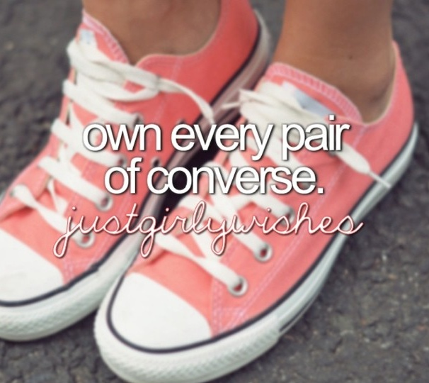 own every pair of converse. @justgirlywishes on Instagram