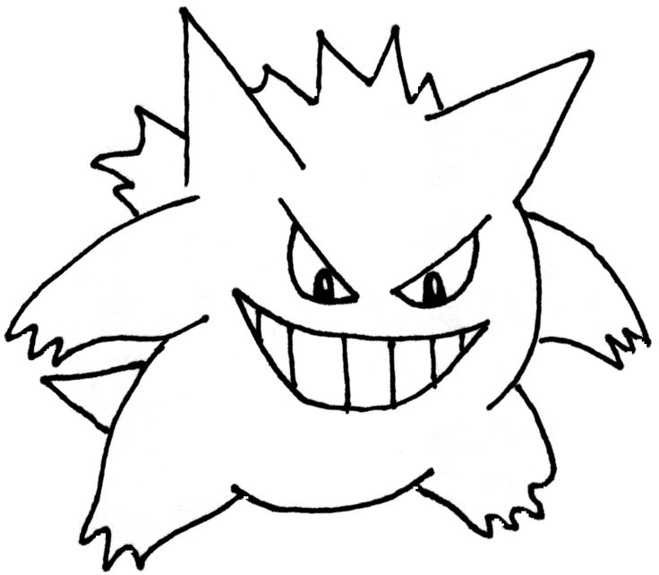 Coloriage pokemon Gengar