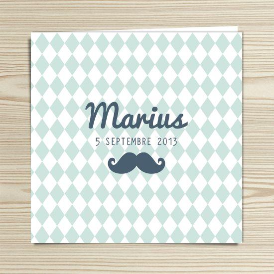 Tannilou - Faire-part naissance MARIUS | Modèle personnalisable gratuitement (texte et couleur)