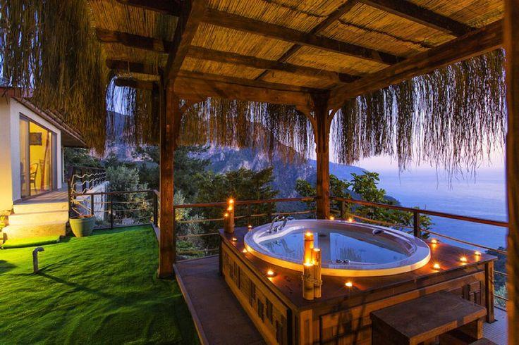 Romantik bir akşamüstüydü, Lissiya Hotel - Kabak Vadisi'nde. www.kucukoteller.com.tr/oludeniz-otelleri.html