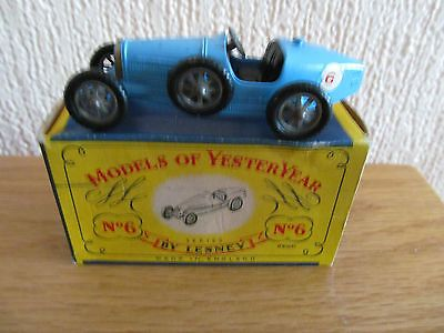 Lesney Model Of Yesteryear 1926 Supercharged Bugatti Type 35 NMIB - http://www.matchbox-lesney.com/?p=6705