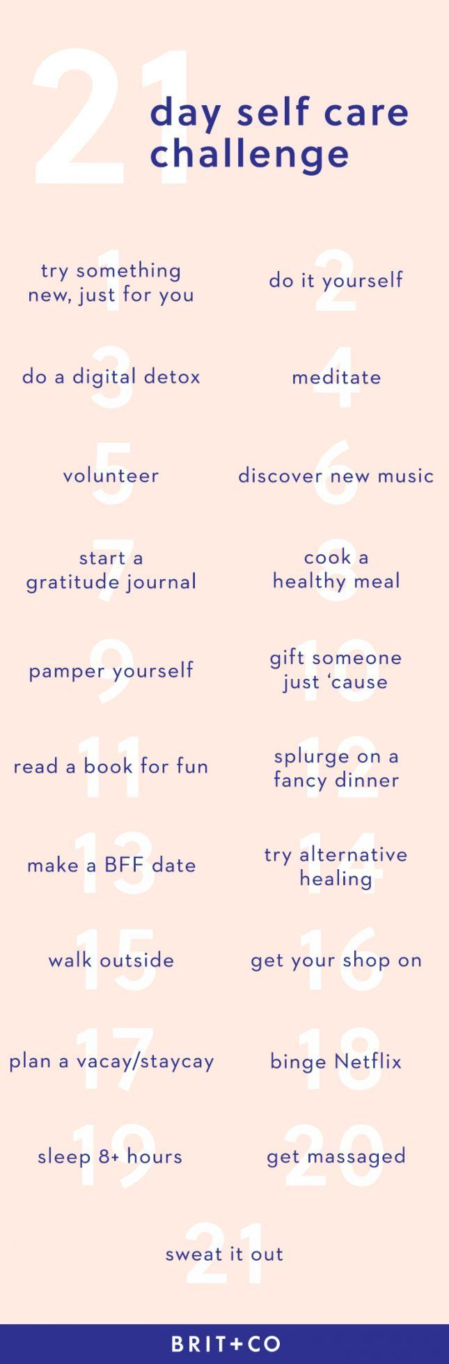 Be your best you with this simple 21-day self-care challenge.