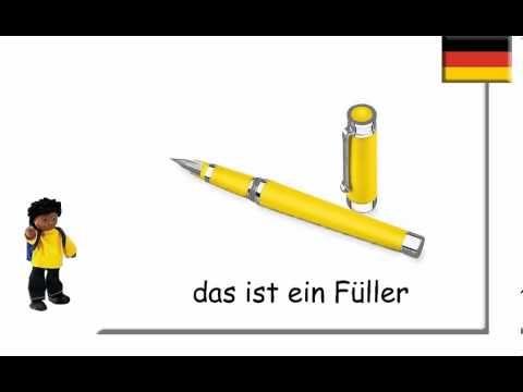 German School Things ~ Schulsachen auf Deutsch - YouTube