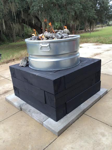 Diy Propane Gas Fire Pit Deck Stuff Pinterest