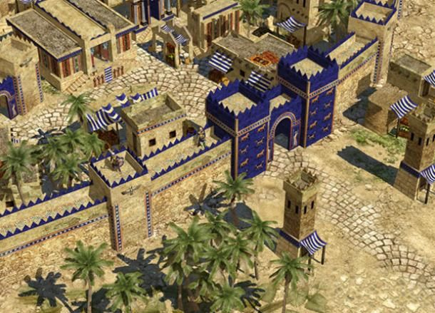 The Magnificent Ishtar Gate of Babylon. This was one of the 7-Wonders of the Ancient World, with all of the various sections.