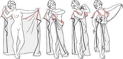 """El peplo Dorico  """"Una prenda habitual de las mujeres sobre todo en las primeras etapas de la civilización griega era el peplo dorico, rectángulo de tejido de lana de 1.80 a 3 metros de ancho aprox. que se llevaba drapeado, envolviendo el cuerpo y se sujetaba en los hombros con fíbulas desde donde se generaban grandes pliegues."""""""