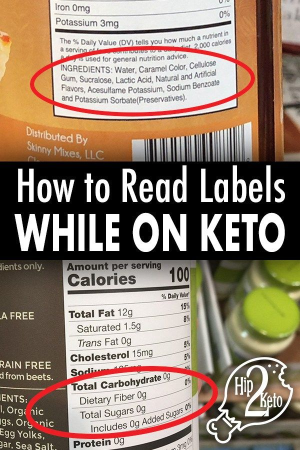 How To Read Nutrition Labels For Keto Pinterest Image