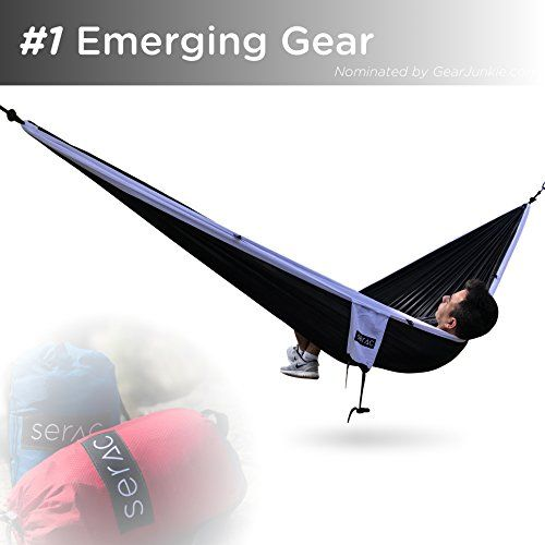 Serac Premium Double Hammock /& Strap Bundle Sequoia XL Portable Double Camping Hammock with Ripstop Nylon and Quick-Hang Suspension System