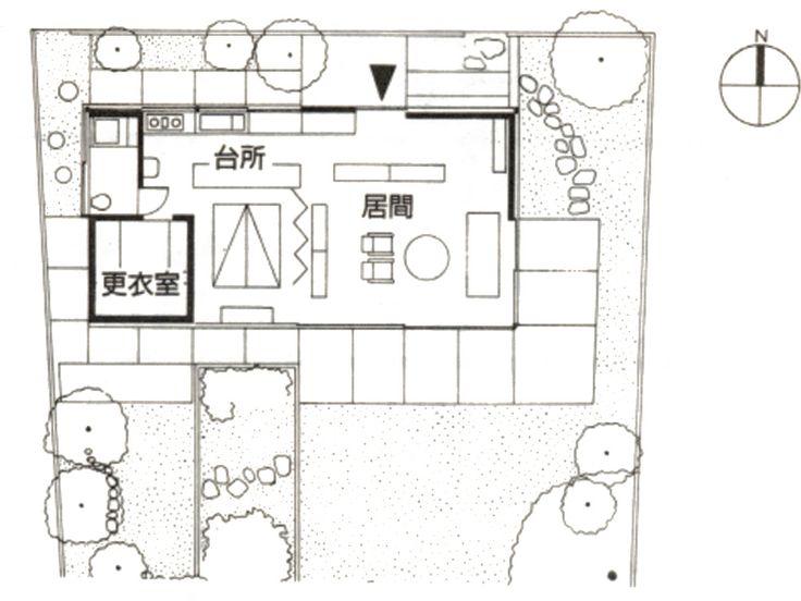 Mathematician house plan 数学者の家 平面 清家清