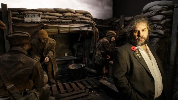 Stuff article: Film maker Sir Peter Jackson shows off the WWI exhibition he helped create at the former Dominion Museum in Wellington.