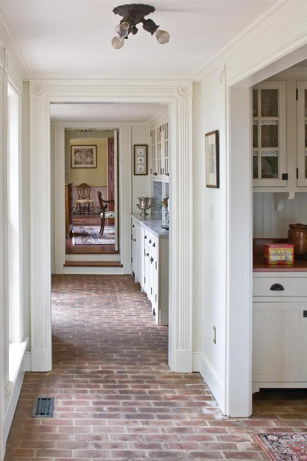 Brick Floor Trendy Farmhouse Kitchen Brick Floor Kitchen Trendy Kitchen Tile
