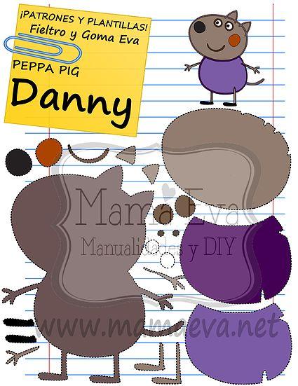 Descarga gratis nuestras plantillas para goma eva y fieltro de tus personajes de dibujos animados actuales favoritos: Peppa Pig, George, el Dinosaurio...