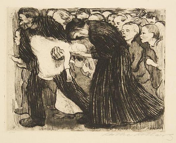 """Käthe Kollwitz, """"Run Over"""" (1910)."""