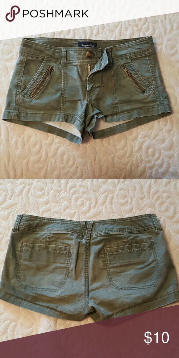 AEO Army Shorts These are super cute shorts from American Eagle Outfitters. Good Condition! American Eagle Outfitters Shorts