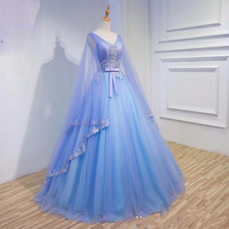 Wedding Dress Princess V Neck 2018 Gothic Medieval Bridal