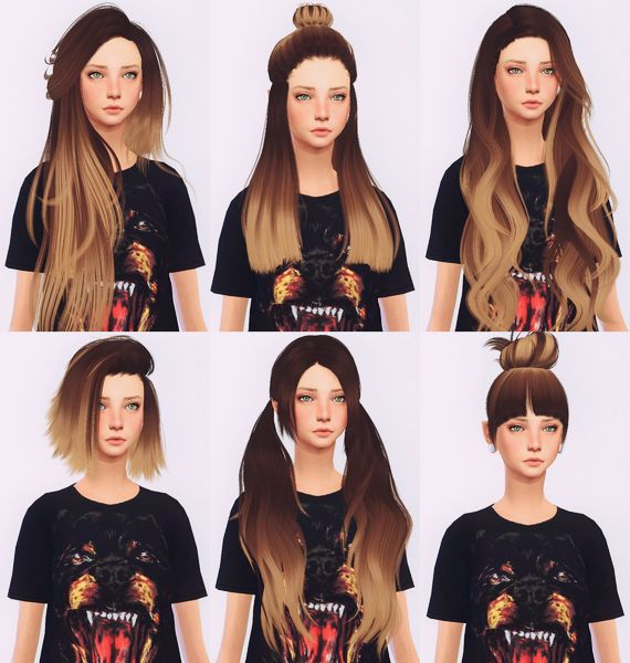 Peinados de sims 4