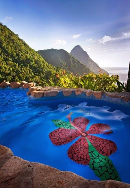 Mountains meet Sea at the St. Lucia Ladera Resort