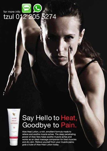 Aloe Heat Lotion The power of liniment enhanced with the benefits of aloe vera. An emollient oil-in-water lotion containing warming agents in an aloe vera base, Aloe Heat Lotion is useful for soothing stress and strain. Useful for relieving aching joints and sore muscles.