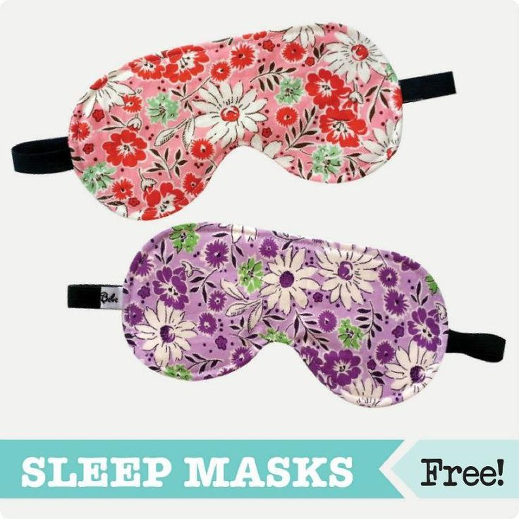 free sleep mask pattern