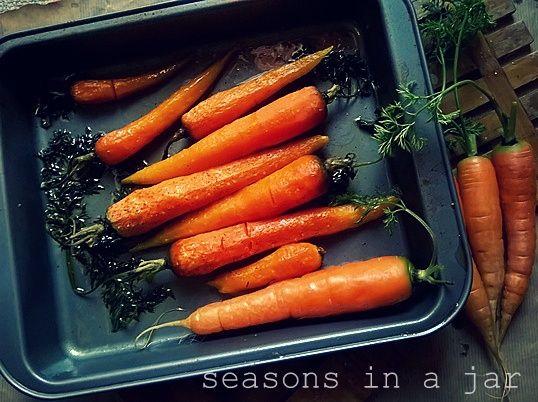 Seasons in a jar: Μελωμένα καρότα στο φούρνο