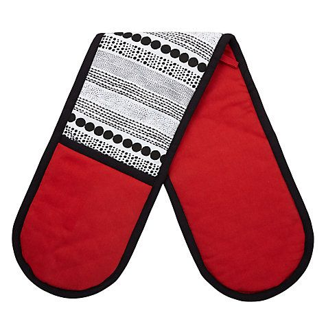 Buy House by John Lewis Small Spots Double Oven Glove Online at johnlewis.com
