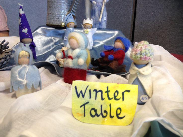 Winter Table from the Orana Spring Fair at Orana Steiner School in Canberra, Australia