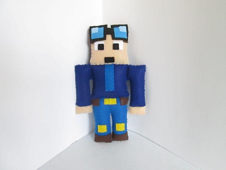 The Diamond Minecart Plush, Dan TDM Plush, Minecraft Plush (Unofficial) by FabroCreations on Etsy https://www.etsy.com/listing/242918719/the-diamond-minecart-plush-dan-tdm-plush