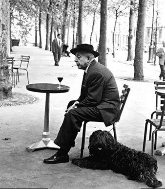 Jacques Prévert, vu par Robert Doisneau ...