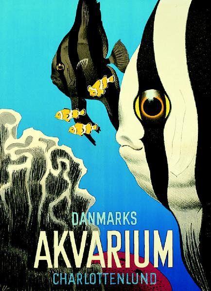 Arne Ungermann poster for Denmark's aquarium