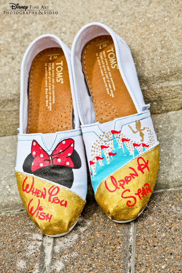 Custom Disney-inspired shoes.