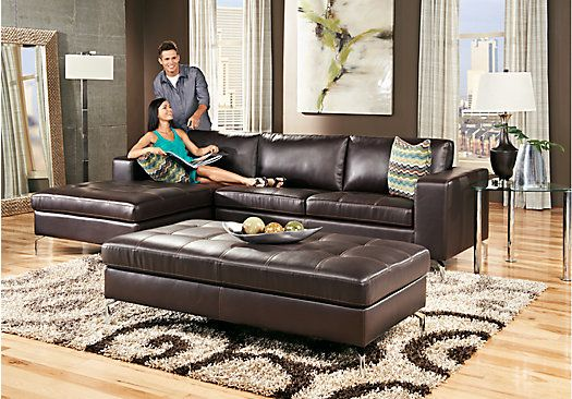 Shop for a Brandon Heights 3 Pc Sectional Living Room at Rooms To Go Find Leather Sectionals that will look great in your home and plement the