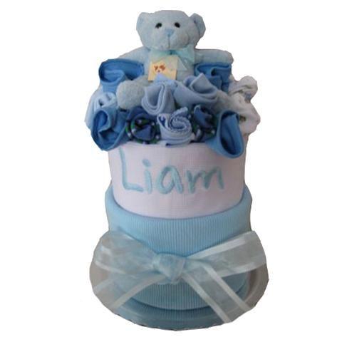 Personalised baby nappy cake baby boy
