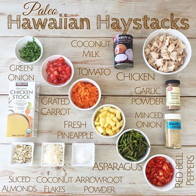 Here's a dairy-free, gluten-free option for Hawaiian Haystacks. This is great for guests, because they can customize their own serving. (Traditional recipes call for cream of mushroom soup. That ain't happening here .)  SERVES 6  For the gravy:  In a medium saucepan, add: 4 cups cold chicken stock 2-3 tablespoons arrowroot powder (cornstarch if you're eating grains)  Mix until powder dissolves. Over medium heat, start whisking as stock thickens, a couple of minutes. If it feels too ru...