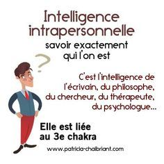 intelligences multiples définition de l'intelligence intrapersonnelle liée au 3e chakra