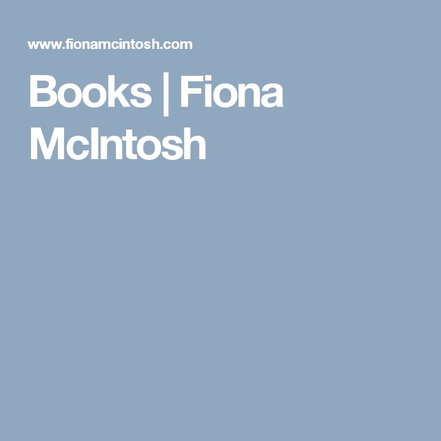 Books | Fiona McIntosh