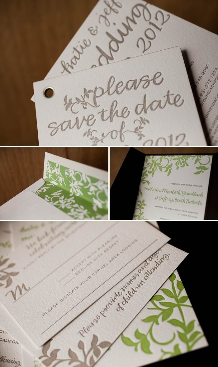 save the date wedding stationery uk%0A Letterpress save the date booklets   invitations featuring our Gramercy  design by Amy Graham Stigler