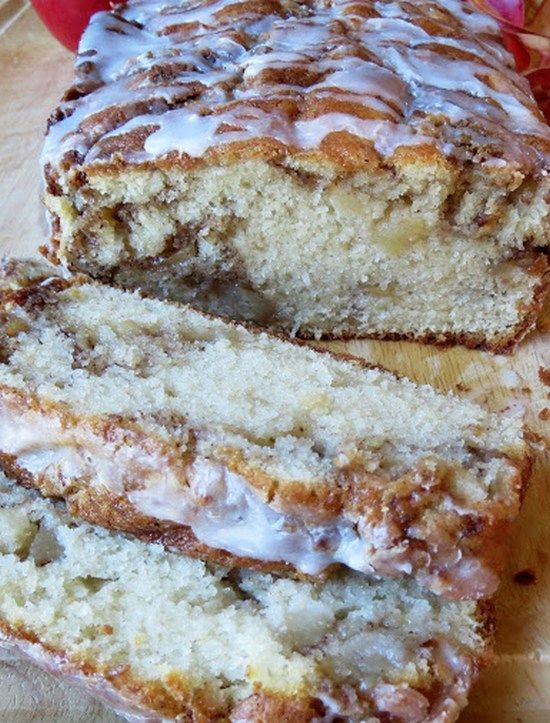 Apple Fritter Bread--This bread tastes EXACTLY like an apple fritter You probably have all the ingredients in your pantry to make this yummy recipe ~ you will not be disappointed.