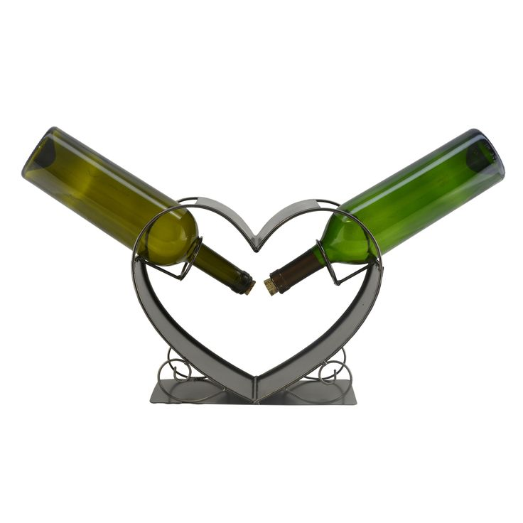 Three Star WineBodies Two of a Kind Heart Wine Bottle Holder