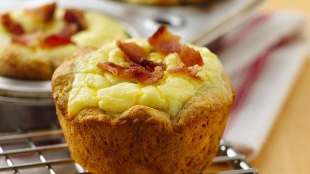 Bacon Quiche Biscuit Cups: Quiche Biscuit, Recipe, Quiches, Cream Cheese, Bacon Quiche, Food, Breakfast, Biscuits, Biscuit Cups