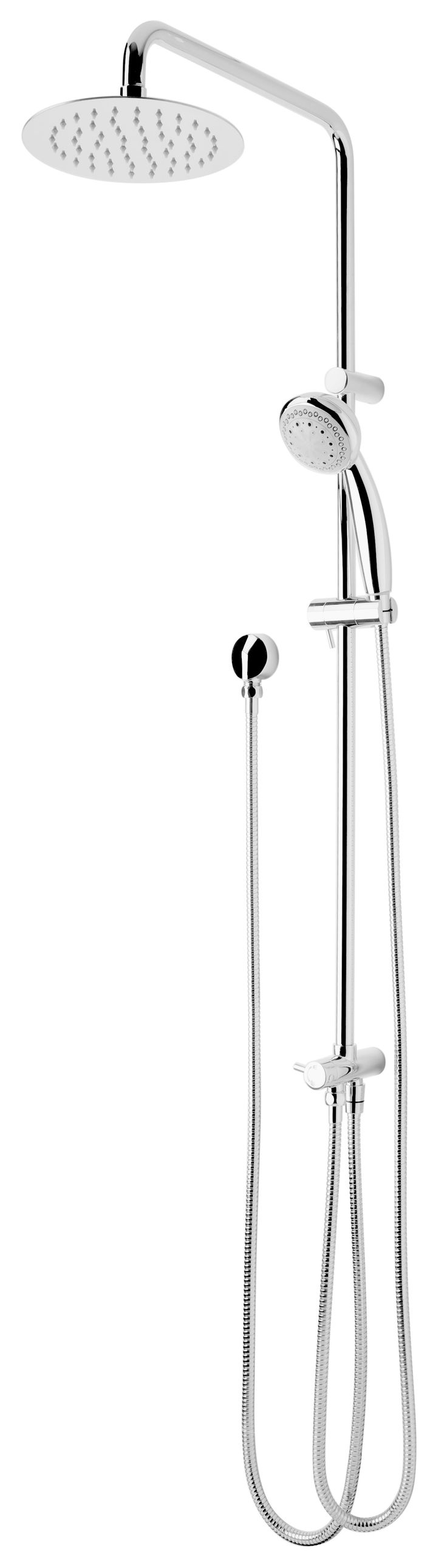 FORENO DOUBLE HEADER SHOWER PANEL CHROME C4-2