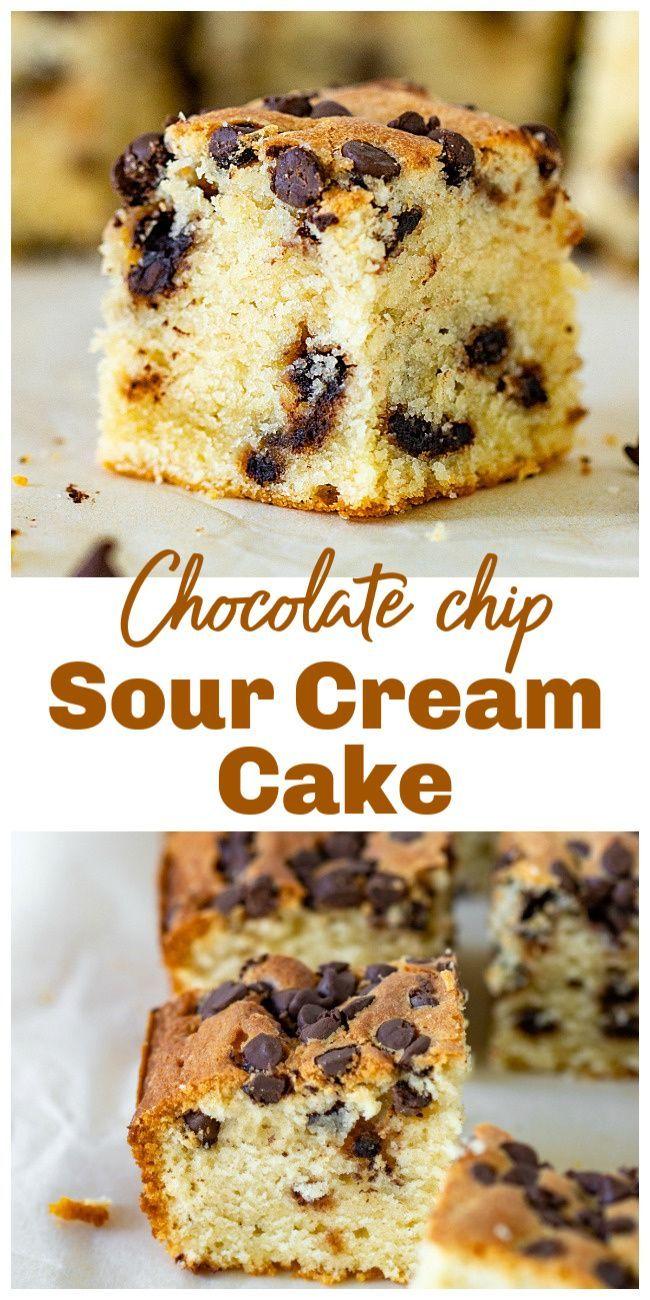 Chocolate Chip Pound Cake With Sour Cream Recipe In 2020 Sour Cream Cake Chocolate Chip Pound Cake Chocolate Chip Cake