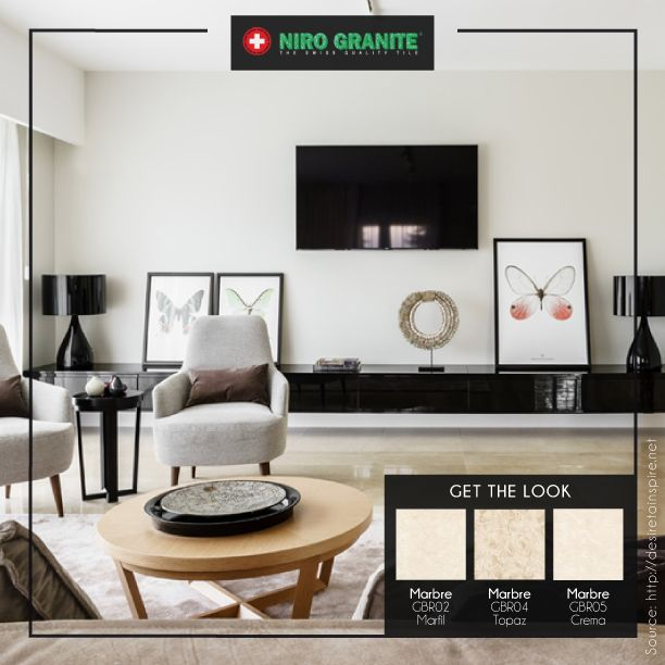 One way to create a warm, cozy and charming nuance for your living room is to tone down. Pick the light neutral colors to apply like Niro Granite's Marbre collection. Last but not least, don't forget to add some different textures so your living room won't be boring. Go to http://www.nirogranite.co.id/product/marbre to get the look with Marbre collection.