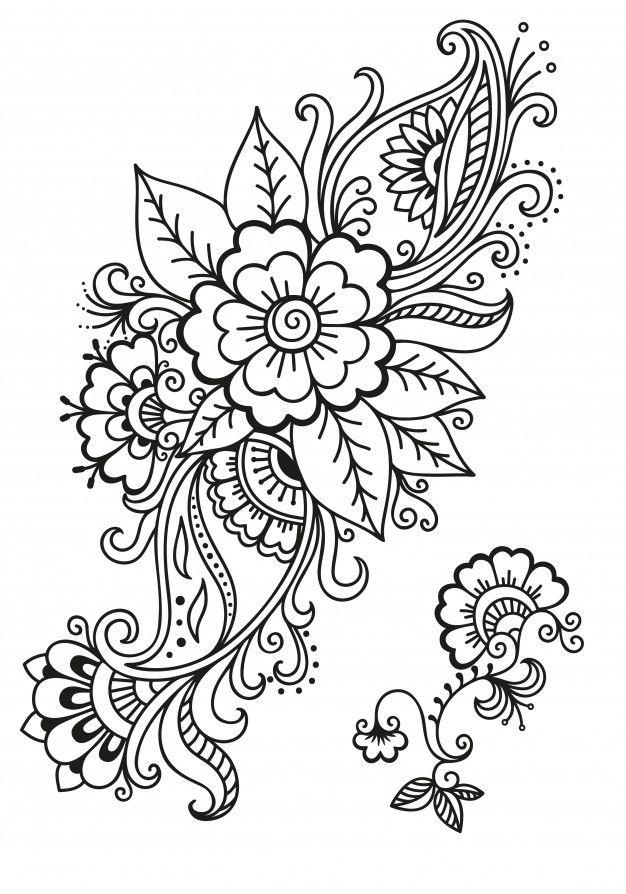 Conjunto De Flores Mehndi Decoracion En Premium Vector Freepik Vector Flor Diseno De Tatuaje Mandala Disenos De Tatuajes De Henna Flores De Henna