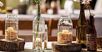 ¡Que tu boda sea mágica! 19 centffros de mesa que puedes hacer tú