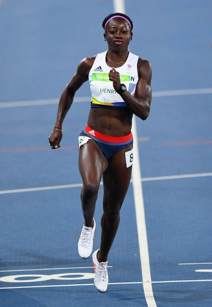 Desiree Henry of Great Britain competes during the Women's 100m Round 1 on Day 7…