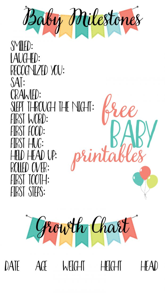 Best 25 baby journal ideas on pinterest dads first christmas free baby printables track milestones pronofoot35fo Gallery