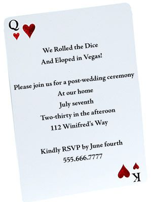 Casual Wedding Invitation Wording | The Wedding Specialists